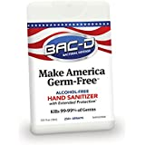 BAC-D 663 Make America Germ Free Alcohol Free Hand Sanitizer, 18 mL (Pack of 12)