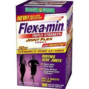 Flex-A-Min Glucosamine Chondroitin MSM, Triple Strength, Coated Tablets 180 ea
