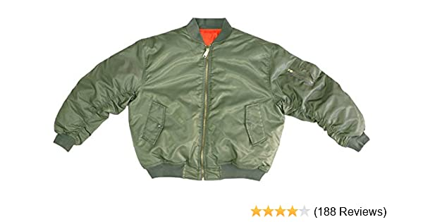 Amazon.com  Army Universe Sage Green MA-1 Military Flight Jacket ... d4840c4291a