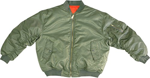 Army Universe Sage Green MA-1 Military Flight Jacket, Air Force Bomber Pilot Jacket (Large)]()