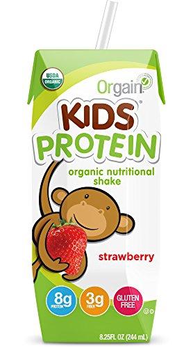 Nutritional Shake Strawberries (Orgain Kids Protein Organic Nutritional Shake, Strawberry, 8.25 Ounce, 12 Count)