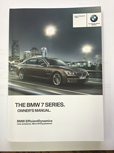 2013 BMW 7 SERIES SEDAN GENUINE OEM OWNER'S MANUAL FOR ALL 740i 740Li 750i 760i MODELS