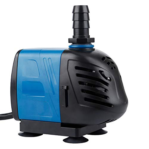 400 Pump - Uniclife 400-1000 GPH Submersible/Inline Water Pump for Pond Pool Fountain Aquarium Fish Tank (400 GPH)