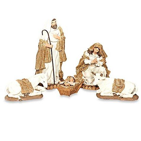 Christmas Tabletop Mary Jesus Joseph Family Figurine Decor Nativity Set by Generic