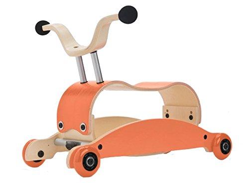 Wishbone Mini Flip Mix & Match 3in 1–Walker + Slip + Swing, Colour: Orange Top + Base + Wheels Orange Wishbone Design Studio