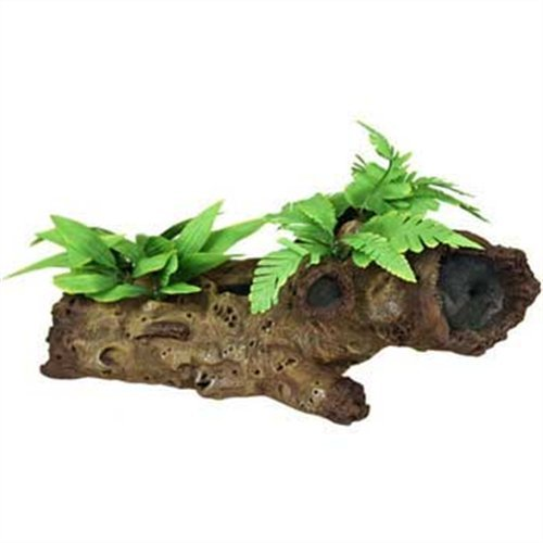 Exotic Environments Mopani Wood s/Silk Style Plants Aquarium Ornament, Large by Blue Ribbon