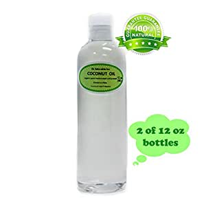 Fractionated Coconut Oil Pure Organic Raw by Dr.Adorable 12oz  pack of 2