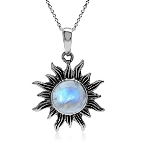 Natural Moonstone Sterling Pendant Necklace product image