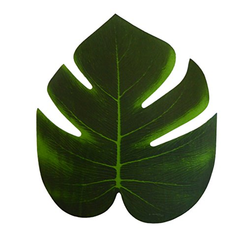 "8"" Green Imitation Hawaiian Leafs Decor - Plants Luau"