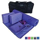 Search : Yoga Set Kit 7-Piece 1 Yoga Mat, Yoga Mat Towel, 2 Yoga Blocks, Yoga Strap, Yoga Hand Towel, Free Carry Case Yoga for Seniors, Exercises Yogis and Mom