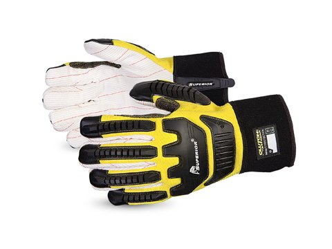 (Superior Anti-Impact Gloves with Kevlar-Reinforced Thumb and Thinsulate Winter Fleece Lining - Protective Work Gloves (Q18VSB) - Small)