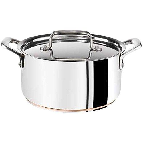 Tefal E92542 Jamie Oliver 전문 스테인레스 스틸 팬 (유도/구리 베이스), 16 cm의 1.5 l silvered