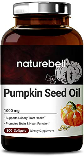Maximum Strength Pumpkin Seed Oil Capsules 1000mg, 300 Liquid Soft-gels, Cold Pressed, Rich in Omega 3 6 Essential Fatty Acids, No GMOs and Made in USA (Best Pumpkin Seed Oil Capsules)
