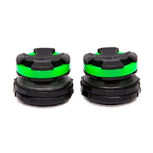 LimbSaver Broadband Dampener for Split Limb Compound Bows, Green, 2-Pack (65 Pound Compound Bow)