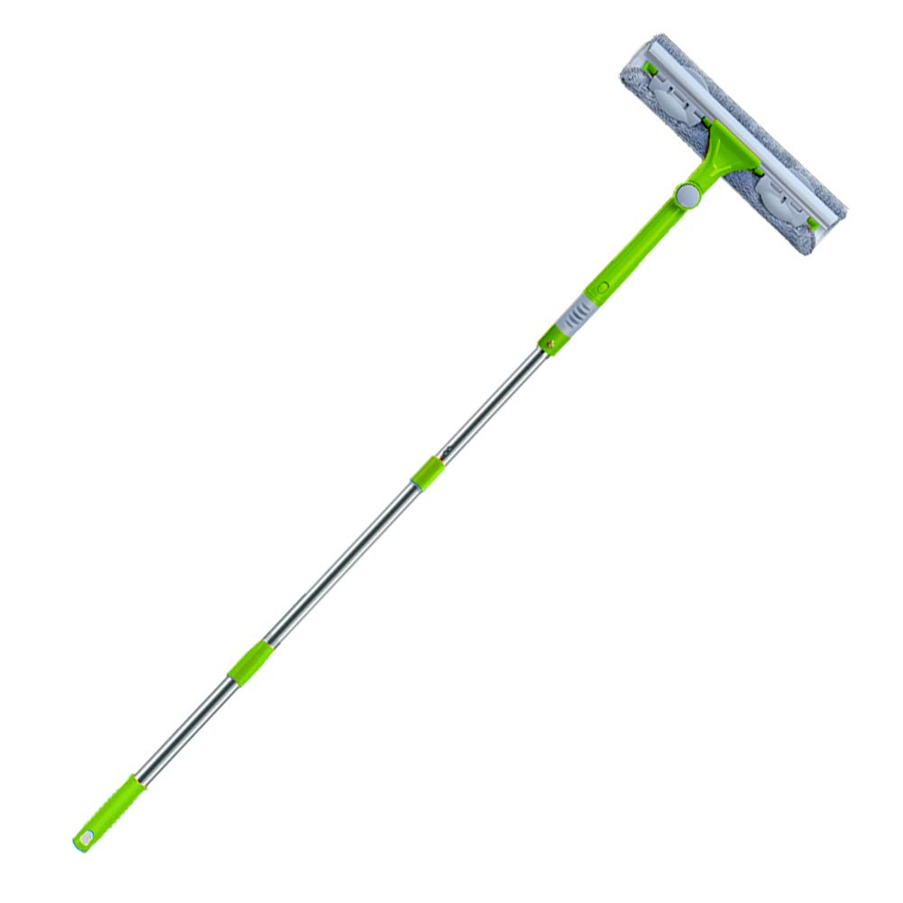 IKU Professional Long Extendable 3-in-1 Window Squeegee Cleaner(Green)