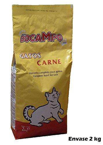 Saco de pienso 2 Kg comida para gatos DOCAMPO sabor Carne