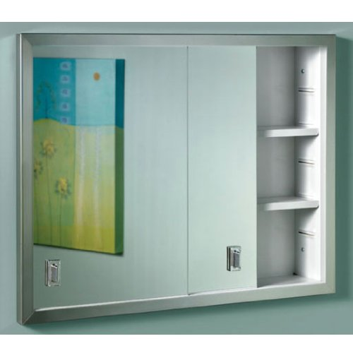 Broan Medicine Cabinets - Broan-NuTone B704850 Contempora Sliding Door Surface Mount Medicine Cabinet