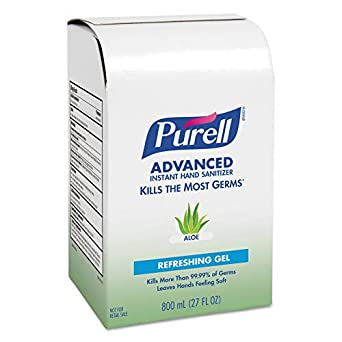 Amazon Com Purell 9637 Instant Hand Sanitizer 800ml Refill Aloe