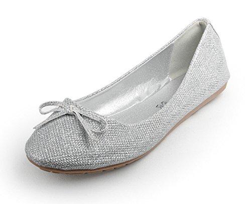 Silver Glitter Wedding Brocade Ballets Ballerinas Pumps qwfrf6x0Y