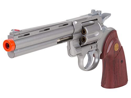 "TSD PY-4480-8739 Zombie Killer .357 6"" Replica Spring Airsoft Revolver BB Gun, Silver, 6-Inch"