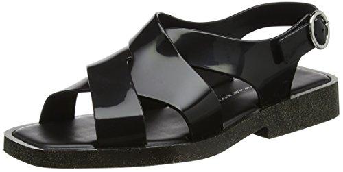 Melissa Damen Melrose Riemchensandalen Black (Black Glitter)