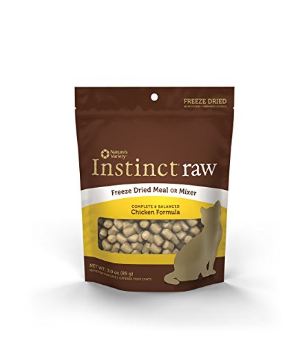 Nature's Variety Instinct Raw Grain-Free Chicken Formula Freeze Dried Cat Meal or Mixer, 3 oz. Bag