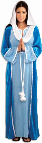 Forum Novelties Women's Deluxe Biblical Virgin Mary Costume, Blue, -