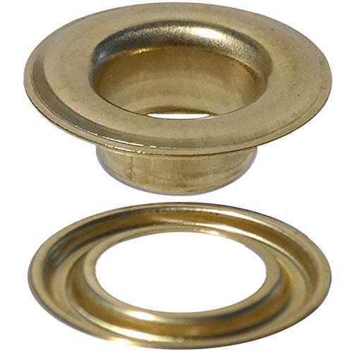 (Stimpson Self-Piercing Grommet and Washer Brass Reliable, Durable, Heavy-Duty #2 Set (500 pieces of each))