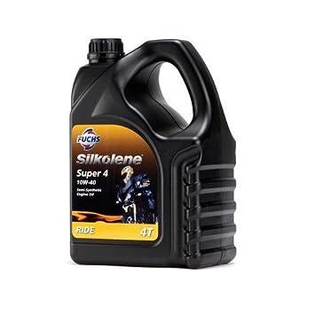 SILKOLENE Super 4 10W40 - Aceite semisintético para Motor de Motocicleta, 4 L: Amazon.es: Coche y moto