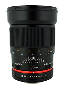 Rokinon 35mm F/1.4 AS UMC Wide Angle Lens for Pentax RK35M-P