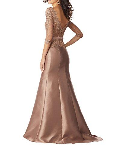 Abendkleider Charmant Bodenlang Langes Rosa Dunkel Partykleider Formalkleider Brautmutterkleider Spitze Festlichkleider Damen Etuikleider qSpRSH6