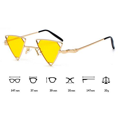 C6 Hommes Mode lunettes Lunettes Style Cool Triangle Out Métal Steampunk soleil Creux Femmes de juqilu nYZA6w1qn