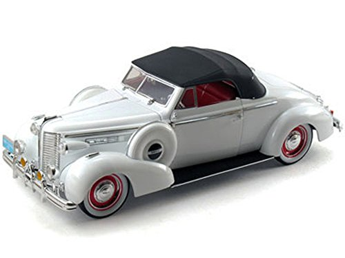 1938 Buick Century Convertible Coupe, White - Signature Models 18131 - 1/18 Scale Diecast Model Toy Car - Buick Century Diecast Model