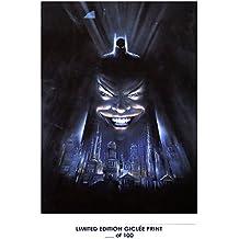 RARE POSTER thick BATMAN movie 1989 tim burton UNUSED REPRINT #'d/100!! 12x18