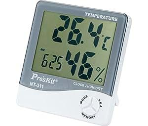 Medidor de temperatura y humedad ambiental para interior - Medidor de temperatura ...