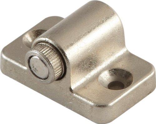 Hafele 246.15.610 Magnetic Catch Set, 2 magnetic catches, 4 mounting screws, 2 strike plates, steel, zinc, matt nickel, holding power 2 kg. (1 set) ()