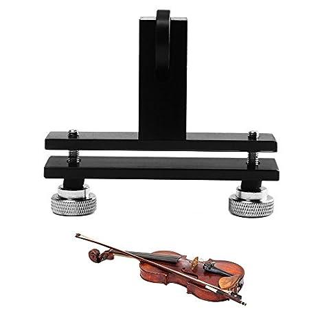 AlLCACA - Herramienta de reparación de violín para puente de violín, aleación de aluminio, color negro y plateado: Amazon.es: Instrumentos musicales