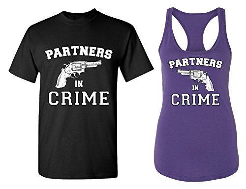 Partners in Crime - Matching Couple T Shirts