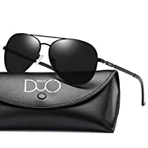 Duco Unisex Classic Retro Pilot Style Polarized Mirrored Sunglasses 3025K