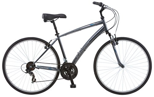 (Schwinn Network 1.0 700c Men's 18 Hybrid Bike, 18-Inch/Medium, Grey)