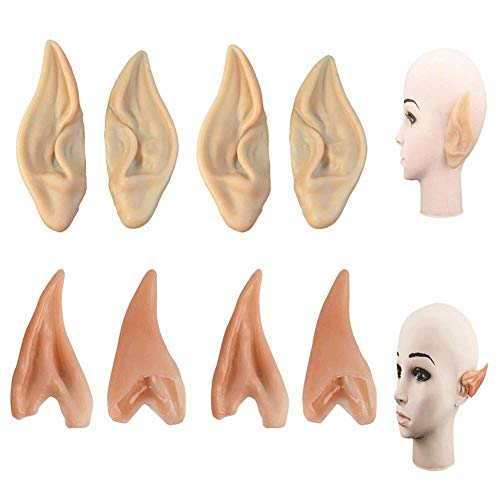 Latex Elf Ears, 4 Pair Fairy Pixie Elf Ears Pointed Prosthetic Ear Elven Ears Cosplay Accessories Party Favor]()