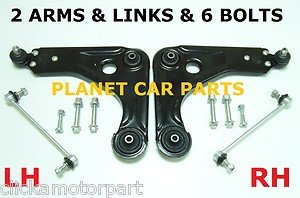 FORD KA LOWER WISHBONE SUSPENSION ARMS X 2 WITH FITTING BOLTS