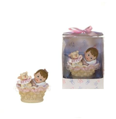 Baby in Basket Poly Resin -Pink Case Pack 48