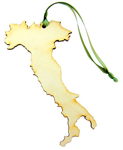 Italy Ornament (Italy Wooden Country Christmas Ornament Boxed Gift Handmade in the U.S.A.)