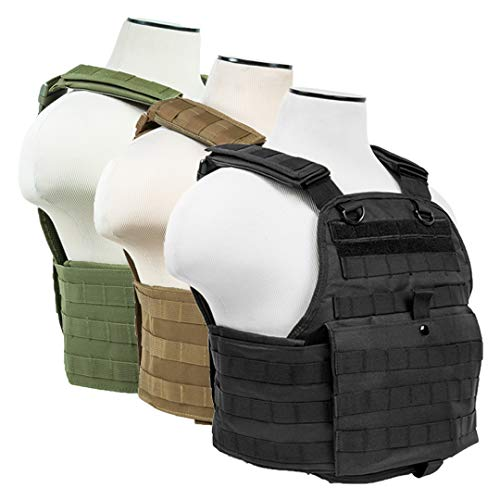 (ATG Tactical Vest MOLLE and PALS Fully Adjustable M-XL (Black))