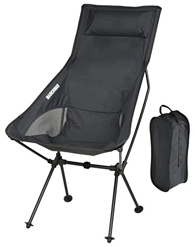 MARCHWAY Lightweight Portable Folding High Back Camping Chair - High Chair Camping