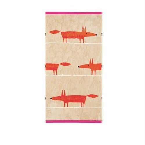 Scion Mr Fox Bath Towel, Cerise