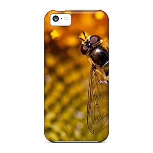 iphone 5c(animals Insects Wasp On The Sunflower) Personal iphone Hot Style case yueya's case