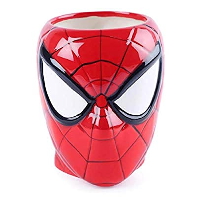 BonZeal 3D Ceramic Spiderman Mug Coffee Mug 1 Piece 450 ml