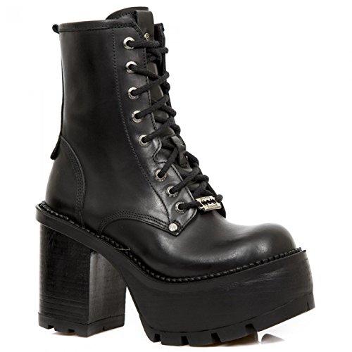 New Rock Boots M.seve02-s2 Urban Biker Rock Damen Stiefel Schwarz